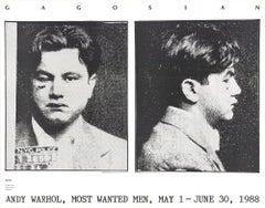 1988 Andy Warhol 'Most Wanted Men, No. 2 John Victor G.' Pop Art Black & White