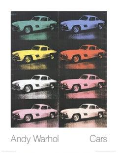 1989 Andy Warhol '300 SL Coupe (1954) (Collage)' Pop Art Multicolor,Black German