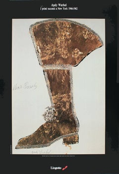 1989 Andy Warhol 'Elvis Presley' Pop Art Brown,White Italy Offset Lithograph