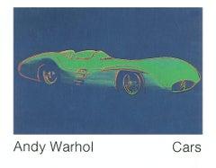 1989 After Andy Warhol 'Formula 1 Car, W 196R' Pop Art Blue,Green Germany