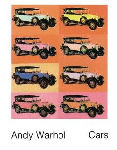 1989 Andy Warhol 'Mercedes Type 400 (1925)' Pop Art Multicolor,Orange,Yellow,Whi