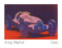 1989 Andy Warhol 'Mercedes W 125 (1937)' Pop Art Pink,Blue,Red Germany Offset Li