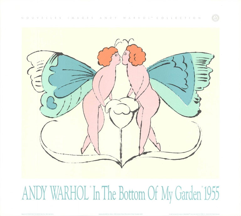 1989 After Andy Warhol 'Page from In the Bottom of My Garden' Pop Art Pastel - Print by Andy Warhol