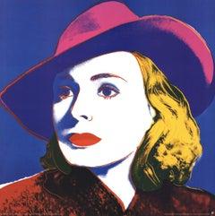 1990 Andy Warhol 'Ingrid with Hat (Lg)' Pop Art Multicolor,Blue Germany Offset L