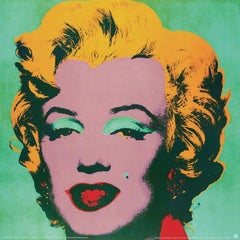 1990 Andy Warhol 'Marilyn Green #23' Pop Art Multicolor,Green,Yellow Germany