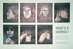 1990 Andy Warhol 'What's a Warhol?' Pop Art Green,Gray Offset Lithograph