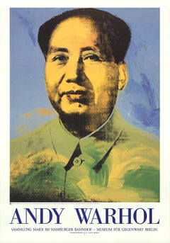 1995 Andy Warhol 'Mao' Pop Art Blue,Green Germany Offset Lithograph