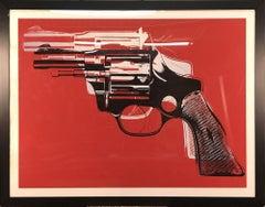 1995 Andy Warhol 'Revolver' Pop Art Offset Lithograph Framed