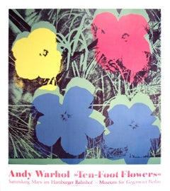 1996 Andy Warhol 'Ten Foot Flowers' Pop Art Germany Offset Lithograph