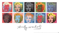 1997 Andy Warhol 'Ten Marilyns (White Background)' Pop Art Multicolor Germany