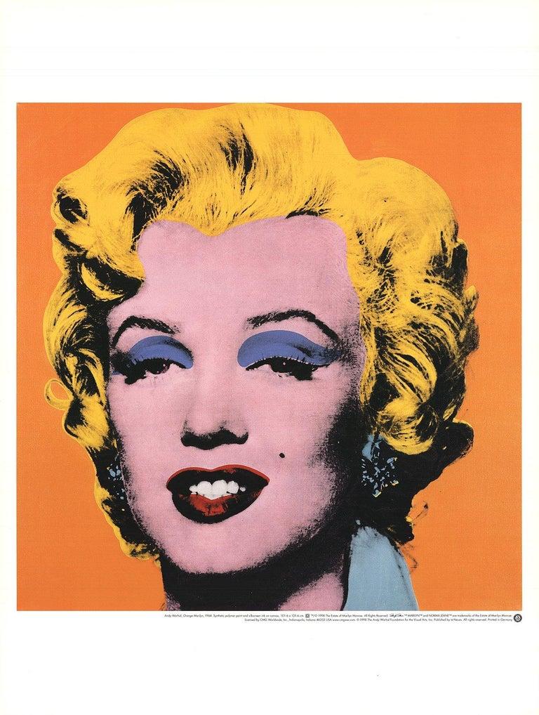1998 Andy Warhol 'Marilyn, Orange Shot on White Background' Pop Art Multicolor,Y - Print by Andy Warhol