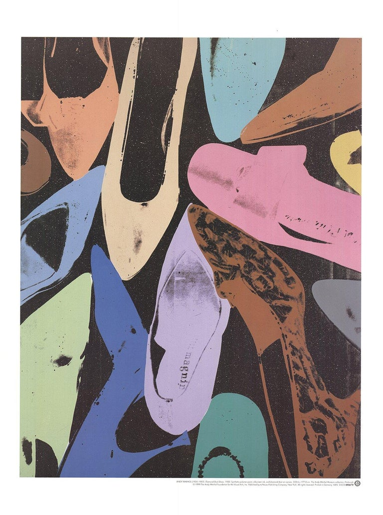 1999 After Andy Warhol 'Diamond Dust Shoes' Pop Art Multicolor Germany Offset  - Print by Andy Warhol