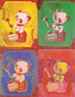 1999 Andy Warhol 'Four Pandas (sm)' Pop Art Multicolor Germany Offset Lithograph