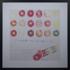 1999 Andy Warhol 'Lifesavers' Pop Art Multicolor Offset Lithograph Framed