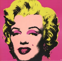 1999 Andy Warhol 'Marilyn Pink (sm)' Art Nouveau Pink,Yellow Germany Offset Lith