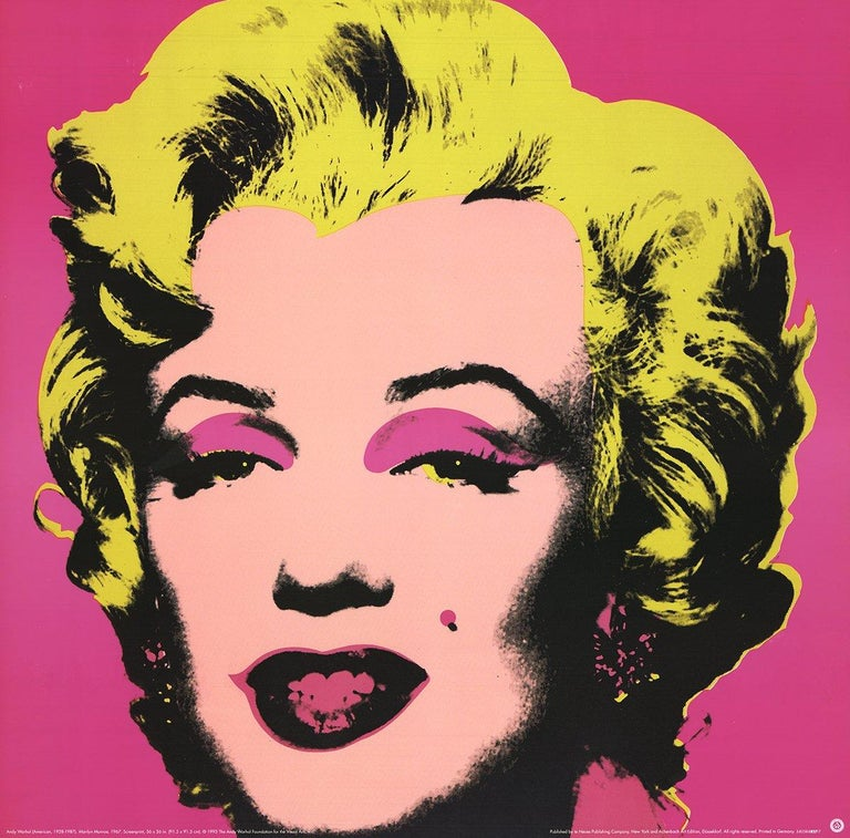1999 Andy Warhol 'Marilyn Pink (sm)' Art Nouveau Pink,Yellow Germany Offset Lith - Print by Andy Warhol