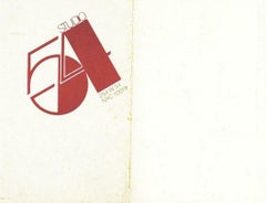 A very rare Andy Warhol Studio 54 Invitation Card, offset lithograph