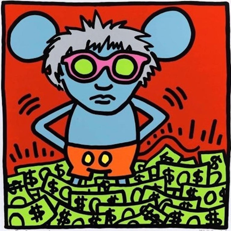 Andy Mouse (Dollar Bills)  - Print by Andy Warhol