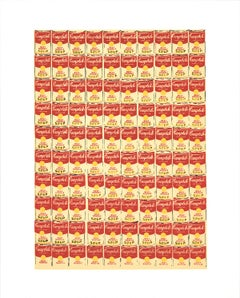 "Andy Warhol-100 Cans-20"" x 16""-Serigraph-1991-Pop Art-Yellow, Orange, Red"