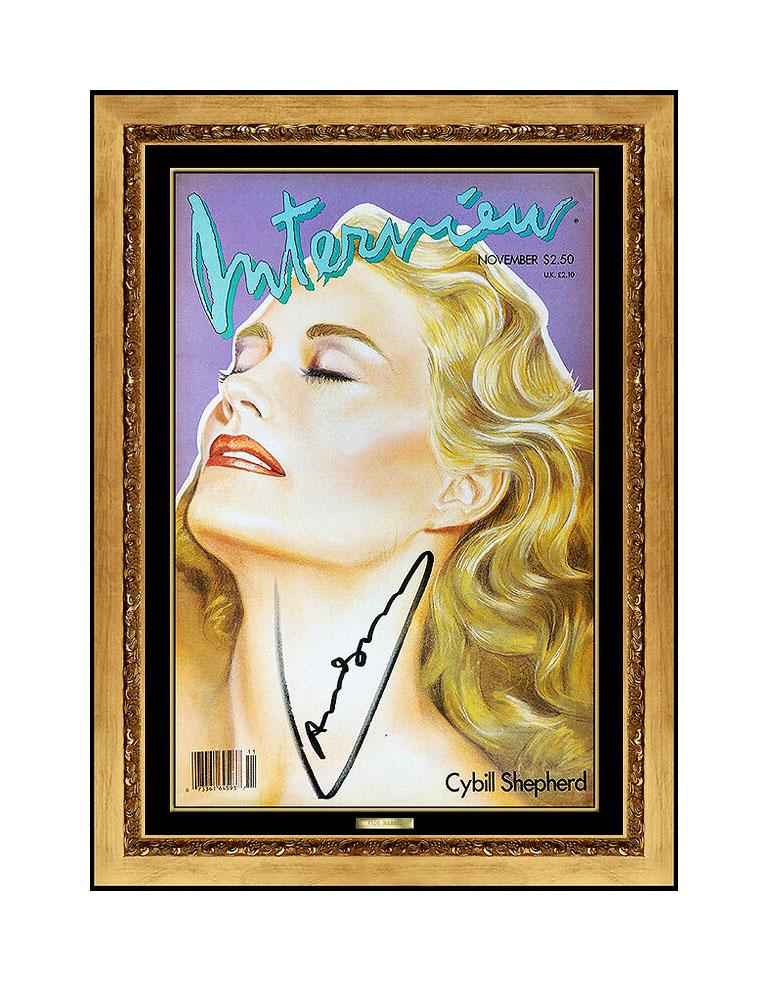 Andy Warhol Print - ANDY WARHOL Authentic Signed Color Lithograph Cybill Shepherd Portrait Photo Art
