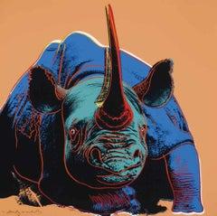 Andy Warhol Black Rhinoceros, from Endangered Species