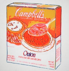 Andy Warhol 'Campbell's Onion Soup Box' Silk screen, 1986
