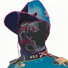 "Andy Warhol - Cowboys and Indians: ""Teddy Roosevelt"""