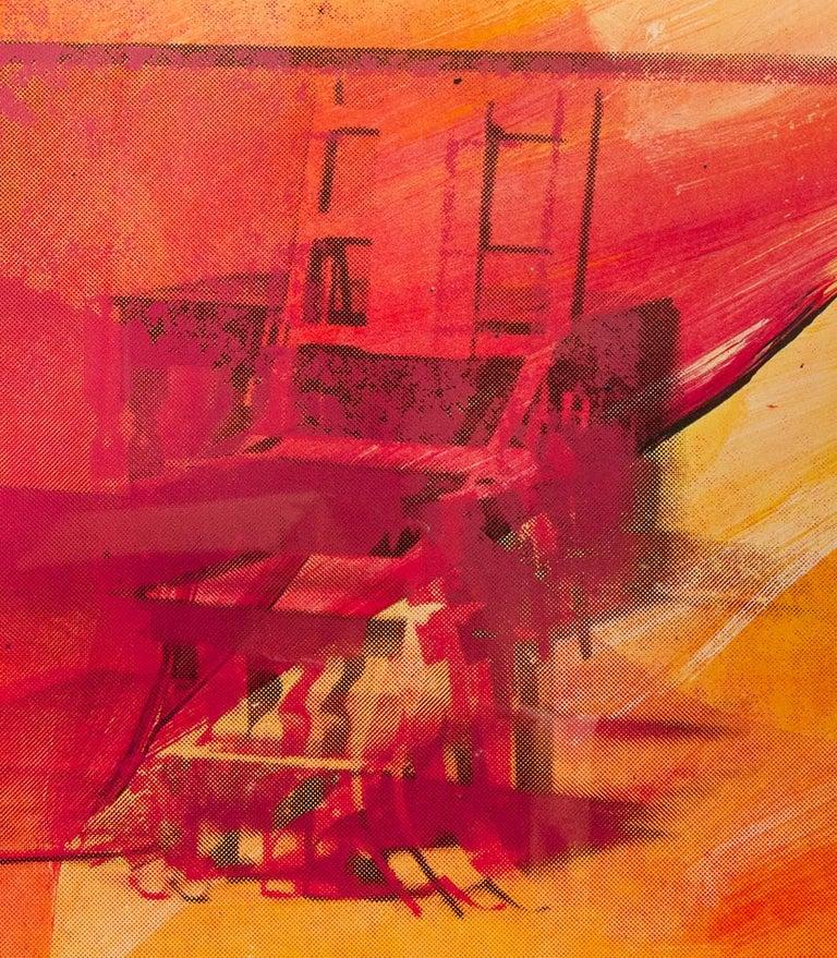 Andy Warhol, Electric Chair, 1971, Silkscreen - Orange Figurative Print by Andy Warhol