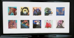 Andy Warhol, Endangered Species 1981, Announcement Cards set framed, each signed