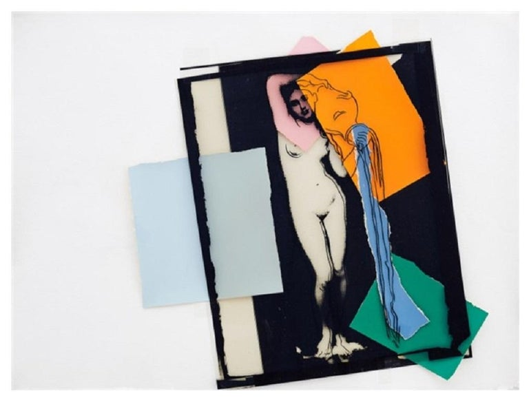 Andy Warhol 'Female Water Bearer' 1983 Collage & Screenprint on Paper - Print by Andy Warhol