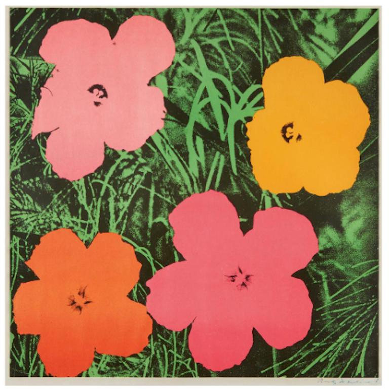 Andy Warhol 'Flowers' Offset Lithograph, 1964