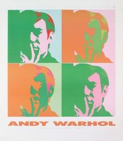 "Andy Warhol-Four Self Portraits-39.25"" x 34.25""-Poster-1989-Pop Art-Orange"