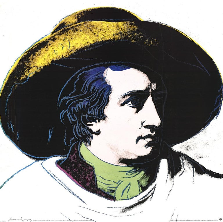 Goethe Black and Yellow - Print by Andy Warhol