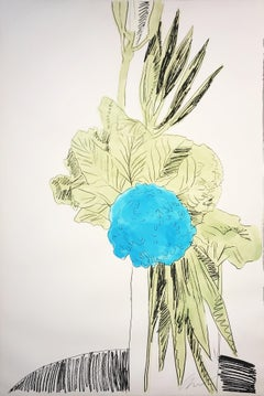 Andy Warhol, Hand Colored Flowers ll.110, 1974 Screenprint with hand coloring.