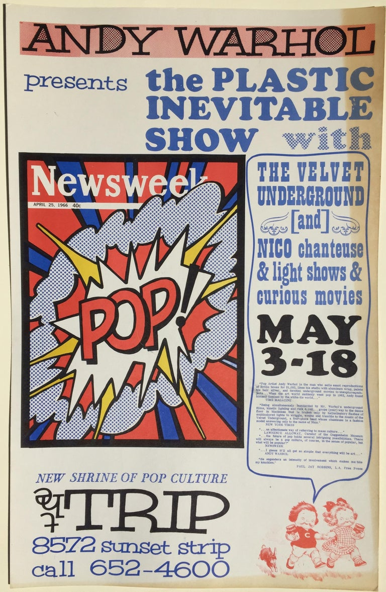 ANDY WARHOL - ICONIC 1966 POP CULTURE POSTER - event closed  by LA Police For Sale 4