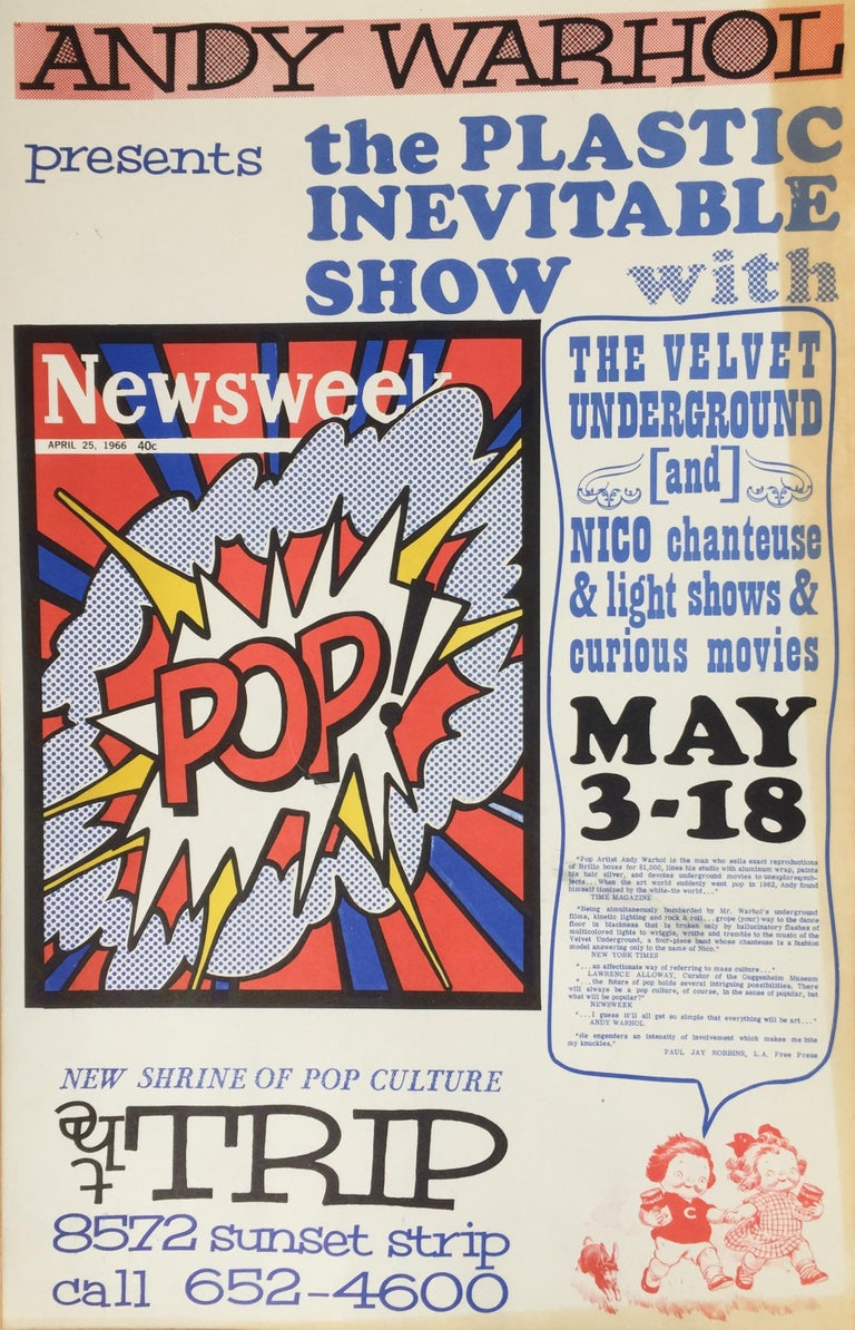 ANDY WARHOL - ICONIC 1966 POP CULTURE POSTER - event closed  by LA Police For Sale 5
