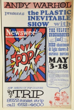 ANDY WARHOL - ICONIC 1966 POP CULTURE POSTER - event closed  by LA Police