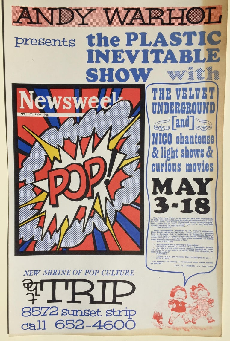 ANDY WARHOL - ICONIC 1966 POP CULTURE POSTER - event closed  by LA Police - Print by (after) Andy Warhol