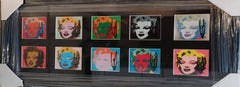 Andy Warhol Marilyn 1967 10 Cards hand signed, Framed