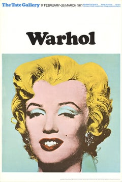 "Andy Warhol-Marilyn-30"" x 20""-Poster-1971-Pop Art-Multicolor, Yellow"