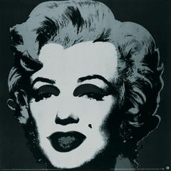 "Andy Warhol-Marilyn Black #24-38"" x 38""-Poster-1989-Pop Art-Black & White-woman"