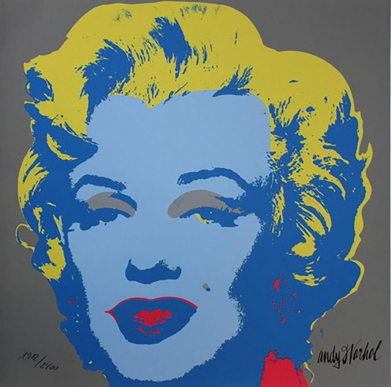 Andy Warhol MARILYN MONROE - 1967 -  baby blue  60 cm x 60 cm edited by the Museum of Art, Carnegie Institute Pittsburgh, 1986 (CMOA) 2400 copies. numbered by hand signature in the board CMOA stamp on back 290 euros