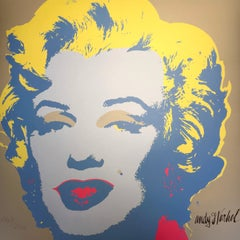 Andy Warhol MARILYN MONROE - 1967 -  baby Yellow