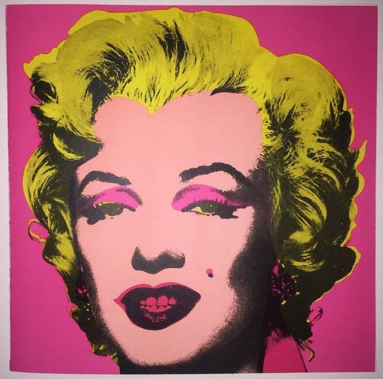 Andy Warhol, Marilyn Monroe Print, Invitation to the Leo Castelli Gallery, 1981 - Pink Portrait Print by Andy Warhol