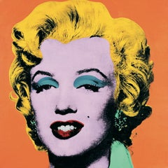 "Andy Warhol-Marilyn Orange (Lg)-38"" x 38""-Poster-1989-Pop Art-Multicolor, Yellow"