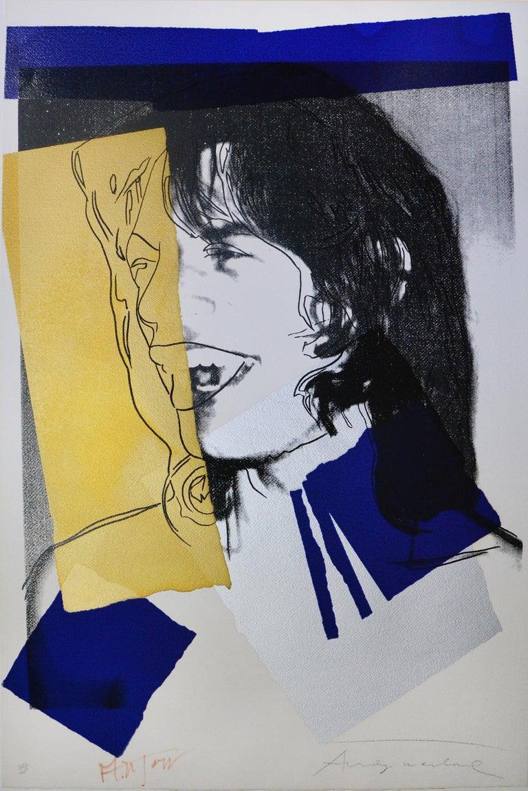 Andy Warhol, Mick Jagger, Screenprint, 1975 - Print by Andy Warhol