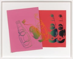 Andy Warhol 'Perrier' Collage 1983