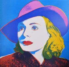 Andy Warhol, Portrait of Ingrid Bergman with Hat, 1983