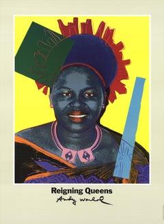 "Andy Warhol-Queen Ntombi Twala Of Swaziland from Reigning Queens-32.5"" x 23.5""-P"