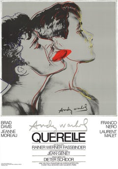 "Andy Warhol-Querelle Grey-39.25"" x 27.5""-Poster-1983-Pop Art-Gray-figures, movie"